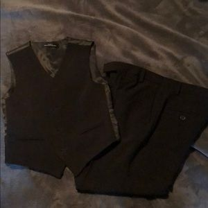 Boys size 8 Calvin Klein black suit pants and vest